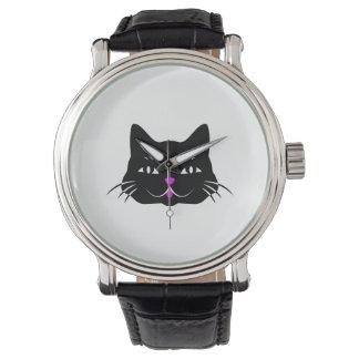 おもしろいな子猫猫の顔 腕時計