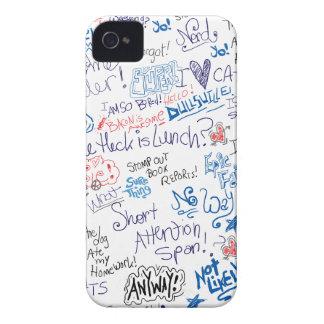 おもしろいな学校の落書きおよびことわざ Case-Mate iPhone 4 ケース