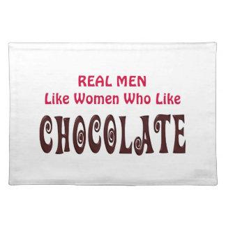 おもしろいな実質の人はチョコレートのように女性を好みます ランチョンマット