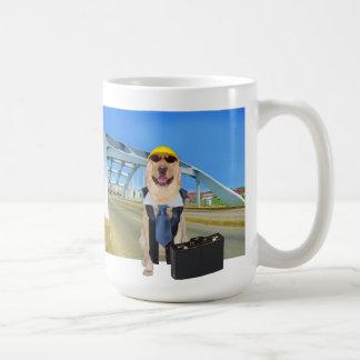 おもしろいな実験室の土木技師のマグ コーヒーマグカップ
