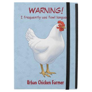 """おもしろいな家禽の言語都市鶏の農家 iPad PRO 12.9"""" ケース"""