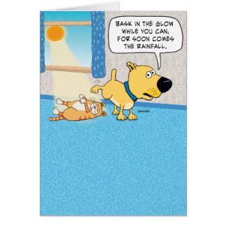 おもしろいな小便をする犬のバースデー・カード カード