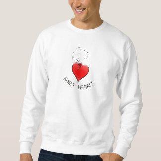 おもしろいな屁のハート スウェットシャツ