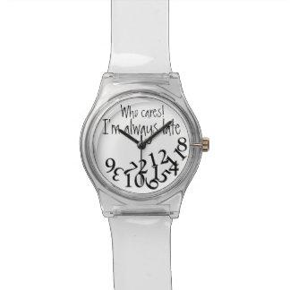 おもしろいな常に遅い 腕時計