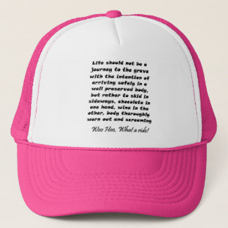 おもしろいな引用文の誕生日プレゼントのアイディアはトラック運転手の帽子を飾ります キャップ