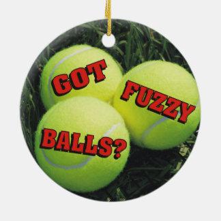 おもしろいな得られた曖昧な球か。 テニス セラミックオーナメント