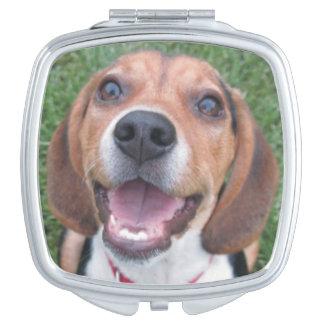 おもしろいな微笑のビーグル犬