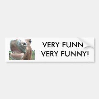 おもしろいな微笑の馬のバンパーステッカー非常に! バンパーステッカー