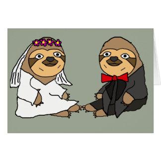 おもしろいな怠惰の新郎新婦の結婚式 カード