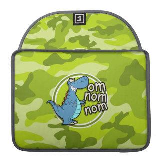 おもしろいな恐竜; 若草色の迷彩柄、カムフラージュ MacBook PROスリーブ