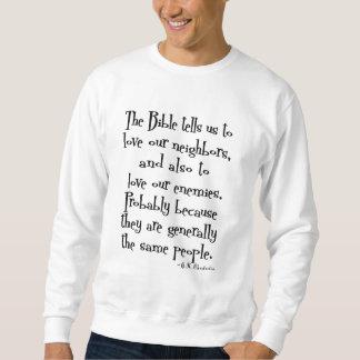 おもしろいな愛あなたの隣の引用文GK Chesterton スウェットシャツ