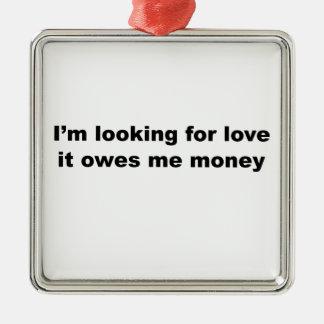 おもしろいな愛スローガン メタルオーナメント