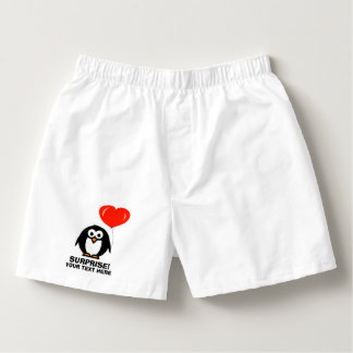 おもしろいな愛ペンギンのボクサーは男性へ下着をショートさせます ボクサー