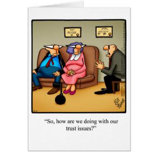 おもしろいな愛及び結婚のユーモアの挨拶状 カード