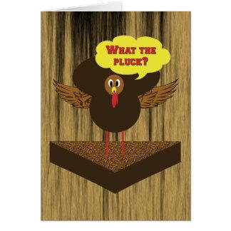 おもしろいな感謝祭カード-話す七面鳥 カード