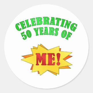 おもしろいな態度の第50誕生日プレゼント ラウンドシール
