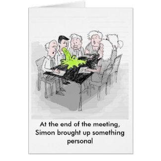 おもしろいな挨拶状-サイモンは何かを持ち出します カード