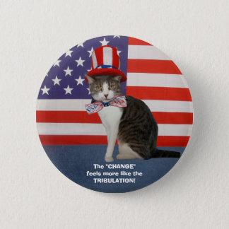 おもしろいな政治猫か子猫 5.7CM 丸型バッジ