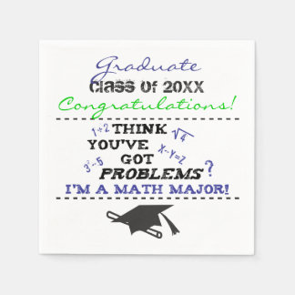 おもしろいな数学専攻学生卒業のカスタム スタンダードカクテルナプキン