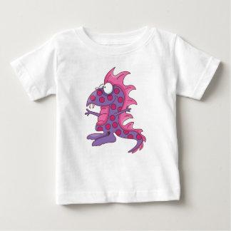 おもしろいな斑点を付けられた紫色の人々の食べる人 ベビーTシャツ