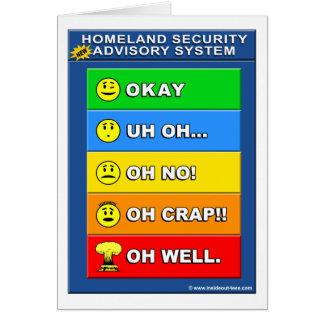 おもしろいな新しい自国の保安諮問システム- カード