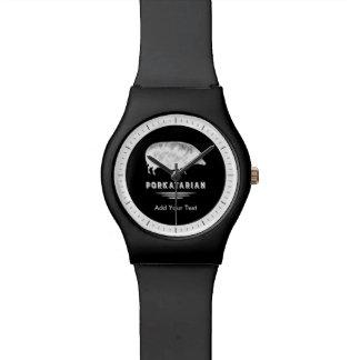 おもしろいな旧式なブタのベーコンの恋人Porkatarian 腕時計