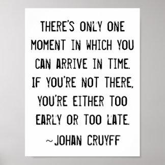 おもしろいな時間の引用文ヨハンCruyff ポスター