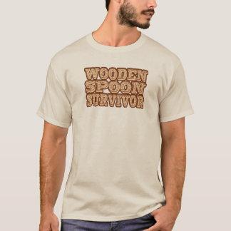 おもしろいな木のスプーンの生存者 Tシャツ