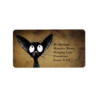 おもしろいな東洋の黒猫のラベル ラベル