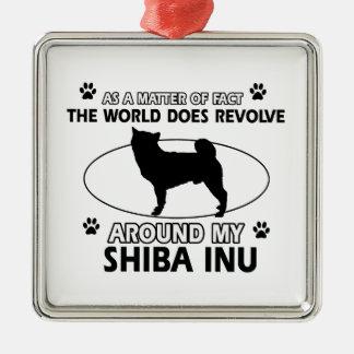 おもしろいな柴犬のデザイン メタルオーナメント