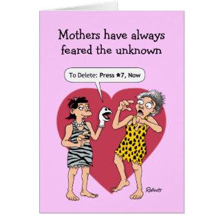 おもしろいな母の日カード: 頭が切れるな電話 カード