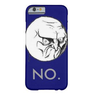 """おもしろいな海軍""""いいえ""""ミームの灰色の文字 BARELY THERE iPhone 6 ケース"""
