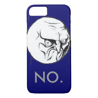 """おもしろいな海軍""""いいえ""""ミームの灰色の文字 iPhone 8/7ケース"""