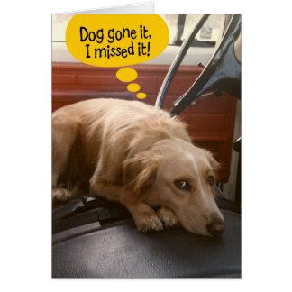 おもしろいな混合された品種犬の遅れてバースデー・カード グリーティングカード