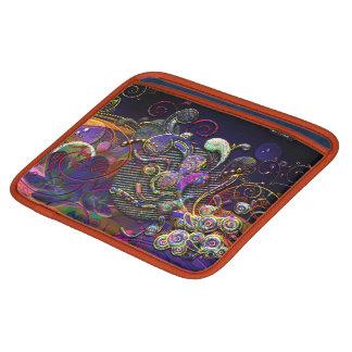 おもしろいな渦巻の抽象芸術の近代美術 iPadスリーブ