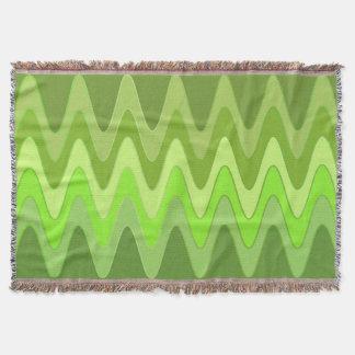 おもしろいな湾曲は緑を振ります + あなたのアイディア スローブランケット