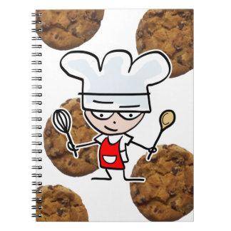 おもしろいな漫画およびクッキーが付いているレシピのノート ノートブック