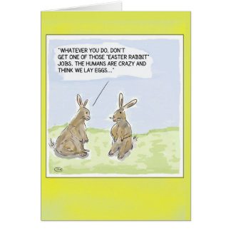 おもしろいな漫画のイースターウサギカード カード