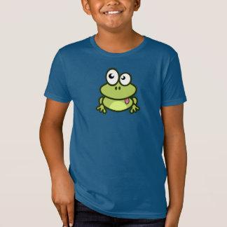 おもしろいな漫画のカエル-子供のTシャツ Tシャツ