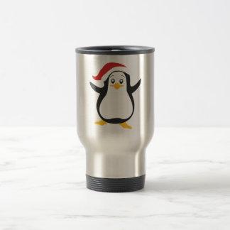 おもしろいな漫画のクリスマスのクリスマスのペンギン トラベルマグ