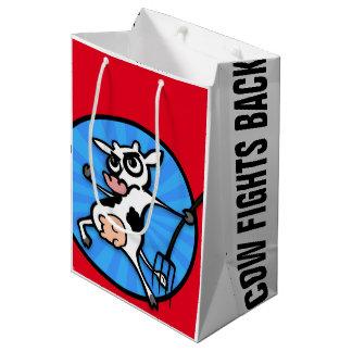 おもしろいな漫画のスタイル牛中型の無光沢のギフトバッグ ミディアムペーパーバッグ