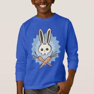 おもしろいな漫画のバニーのどくろ印 Tシャツ