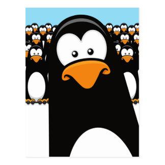 おもしろいな漫画のペンギンの郵便はがき ポストカード