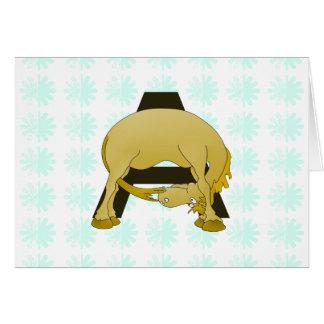 おもしろいな漫画の子馬のモノグラムA カード