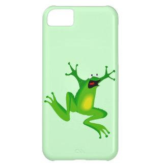 おもしろいな漫画の跳躍のカエル動物の熱狂の子供 iPhone5Cケース