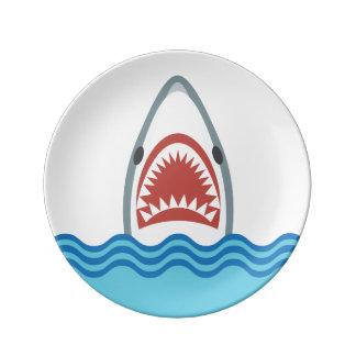 おもしろいな漫画の鮫の頭部 磁器プレート