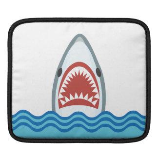 おもしろいな漫画の鮫の頭部 iPadスリーブ