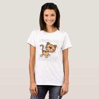 おもしろいな漫画猫は害を捜します Tシャツ