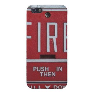 おもしろいな火Deptの緊急の火の引きの場所 iPhone 5 ケース