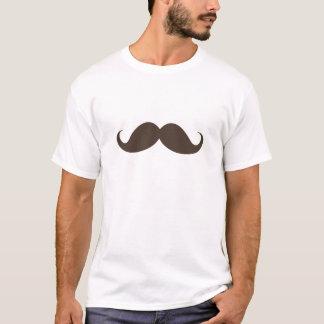 おもしろいな焦茶のハンドルバーの髭の口ひげ Tシャツ